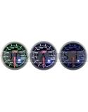 STEPPER MOTOR PEAK 52mm WATER TEMP WHITE+AMBER/ BLUE/ GREEN