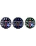 STEPPER MOTOR PEAK 52mm voltmeter WHITE+AMBER/ BLUE/ GREEN