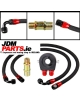 OIL FILTER SANDWICH + 2x NYLON STAINLESS STEEL BRAIDED AN10 HOSE