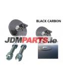 BLACK CARBON Fiber Flush Mount bonnet Lock w/ Key Variable Mount